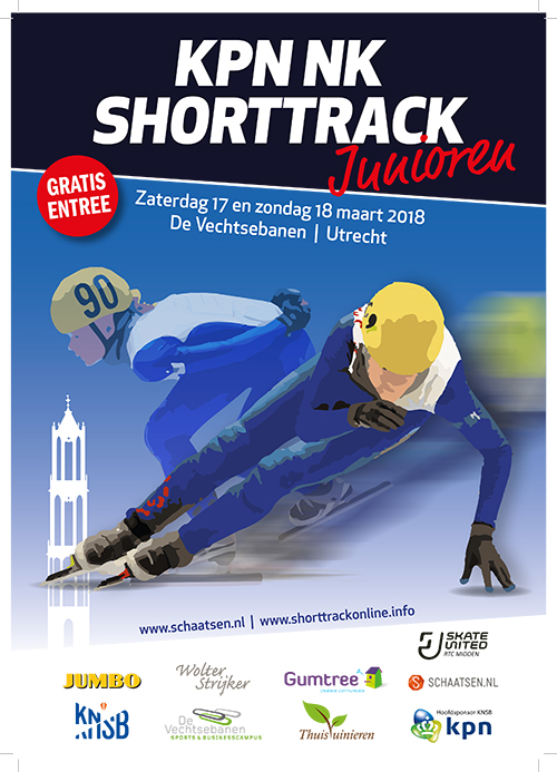 NK Shorttrack Junioren in Utrecht
